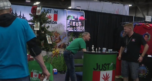 Our booth shown on citynews at the Edmonton cannabis hemp expo