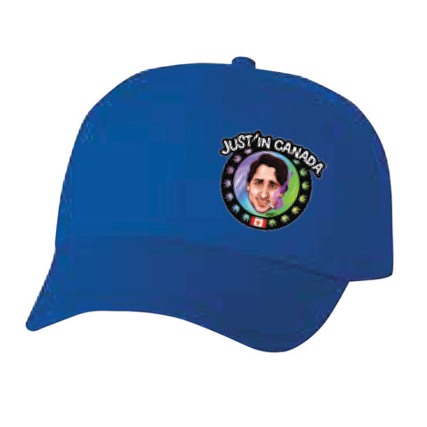 Justin Trudeau psychedelic blue cap