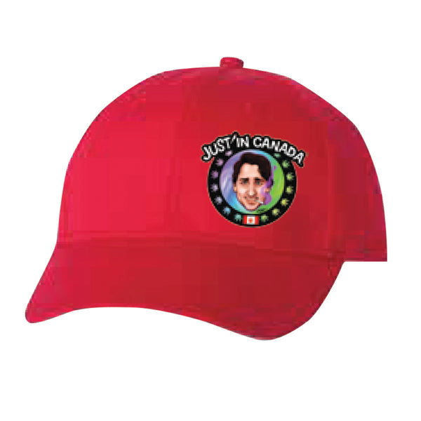 Justin Trudeau psychedelic red cap