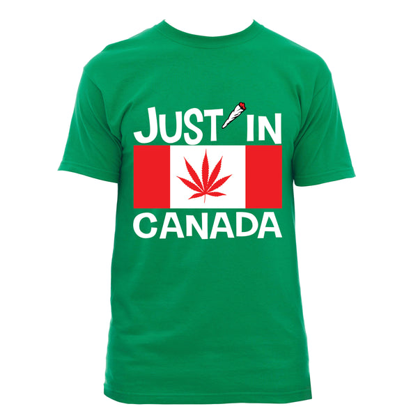 Canadabis flag T‑shirt