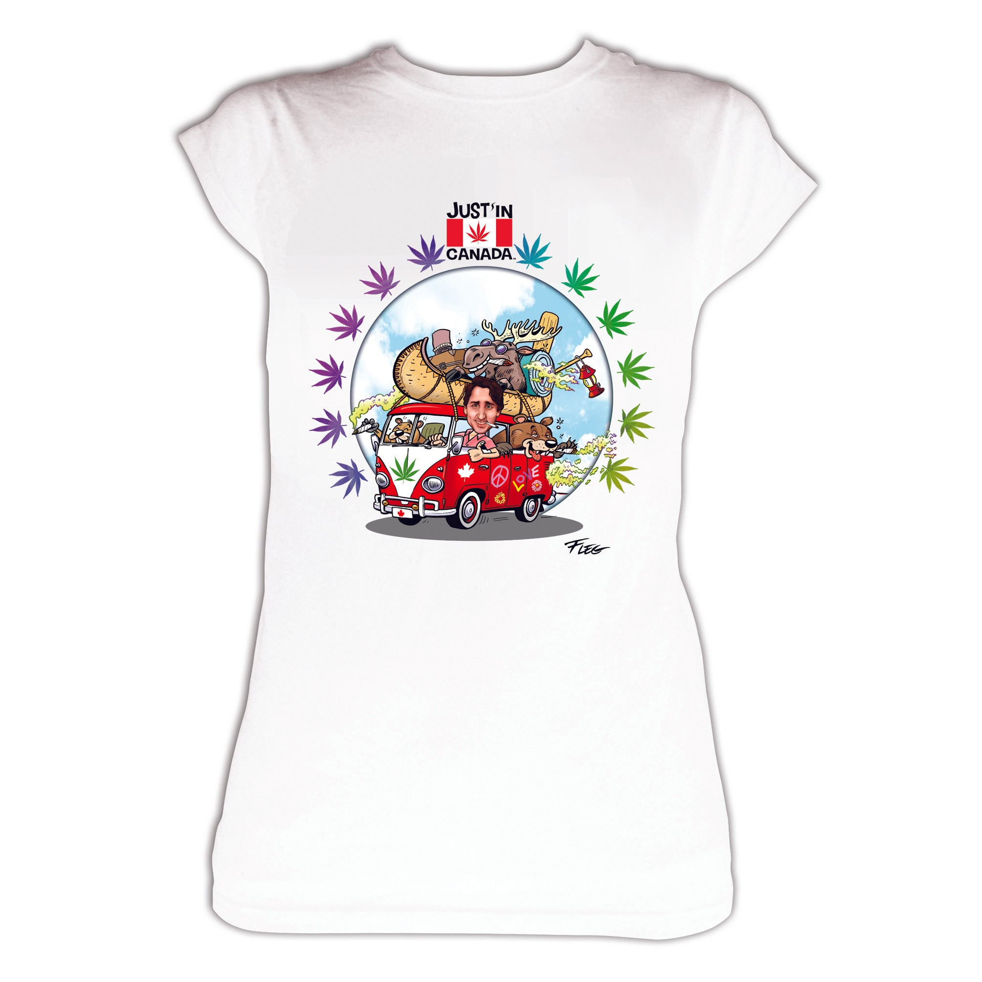 Justin Trudeau womens white T‑shirt