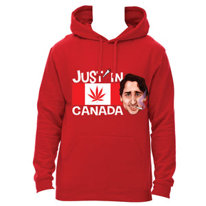 Justin Trudeau hoodie with Canadabis flag