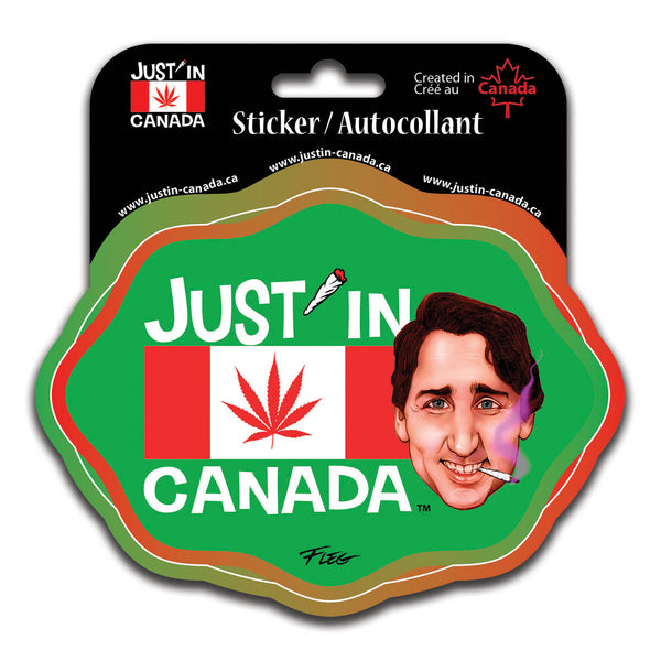 Just'in Canada cannabis flag magnet