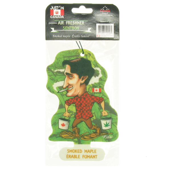 Smoked maple car freshener – Justin Trudeau in snowshoes