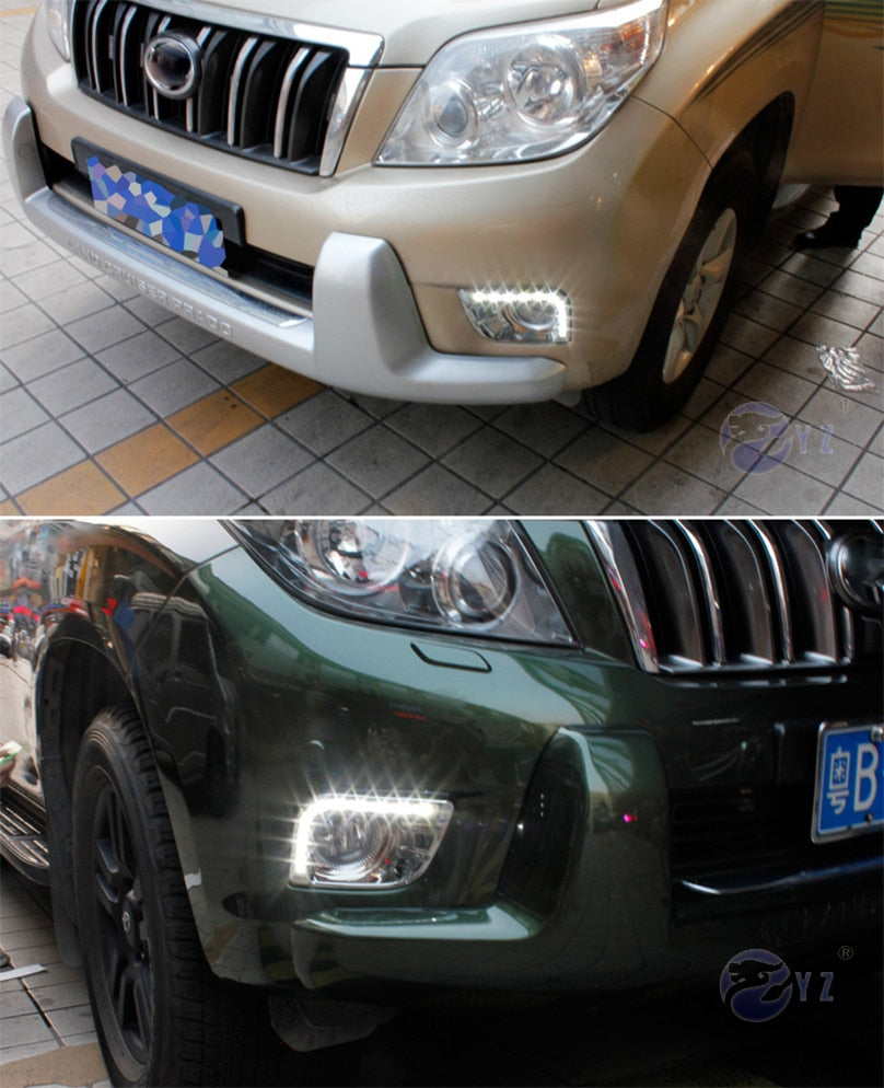Daytime Running DRL Fog Lights For Toyota Prado FJ150 LC150 2010 2011 2013 For Land Cruiser 2700 - Any Car Accessories