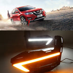 Daytime Running LED Fog Lights For Nissan X-Trail Xtrail X trail 2017 2018 - Any Car Accessories