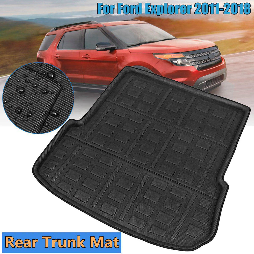 Trunk Mat Carpet Cover For Ford Explorer 2011-2018,  - Any Car Accessories