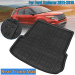 Trunk Mat Carpet Cover For Ford Explorer 2011-2018