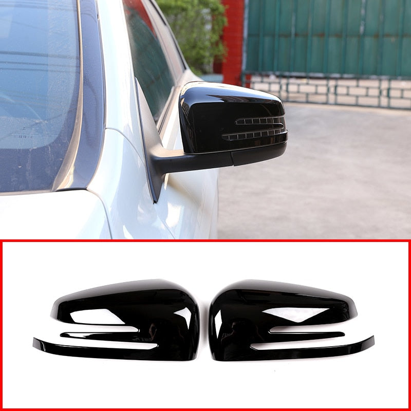 Glossy Black OR Chrome Side Mirror Cover For Mercedes Benz A CLA GLA GLK Class W176  W117 X156 X204