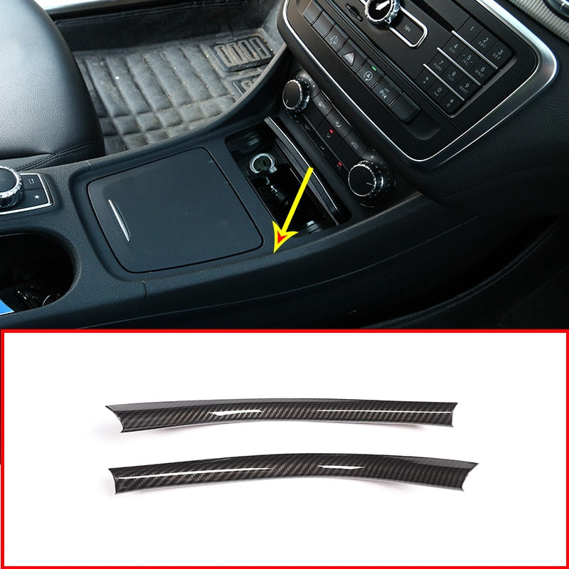 Carbon Fiber Center Console Strips Trim For Mercedes Benz A/GLA/CLA Class 200 220 260  W176 A180,  - Any Car Accessories