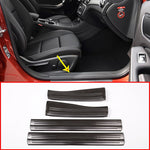 Chrome Door Sill Protectors For Mercedes Benz A B CLA GLA Class W176 W246 W117 C117 X156,  - Any Car Accessories