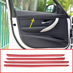 Carbon Fiber Interior Door Decoration Strips For BMW 3 Series f30 2017 2018 2019,  - Any Car Accessories