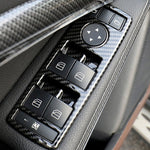 Carbon Window Switch Buttons Frame For Mercedes-Benz A B C E GLE GLA CLA GLK Class W176 W204 W212 W166 W218,  - Any Car Accessories