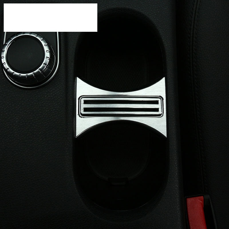 Aluminum Cup Holder Cover Trim For Mercedes Benz CLA 200 220 260 GLA A Class W176 C117 W117,  - Any Car Accessories