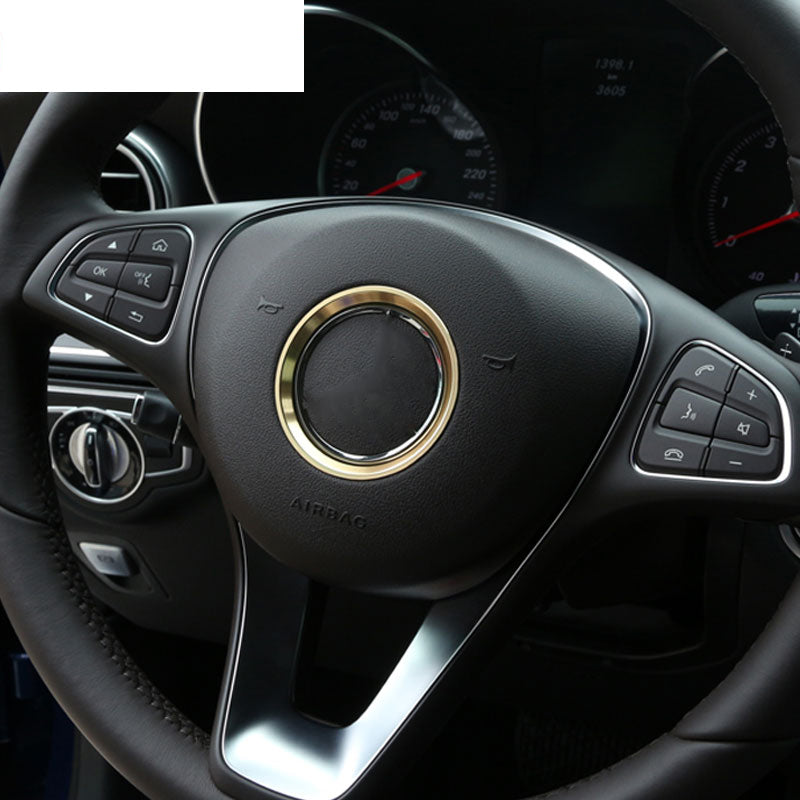 Chrome Steering Wheel Ring For Mercedes Benz CLA GLE GLC A B C Class W204 W246 W176 W117 C117,  - Any Car Accessories