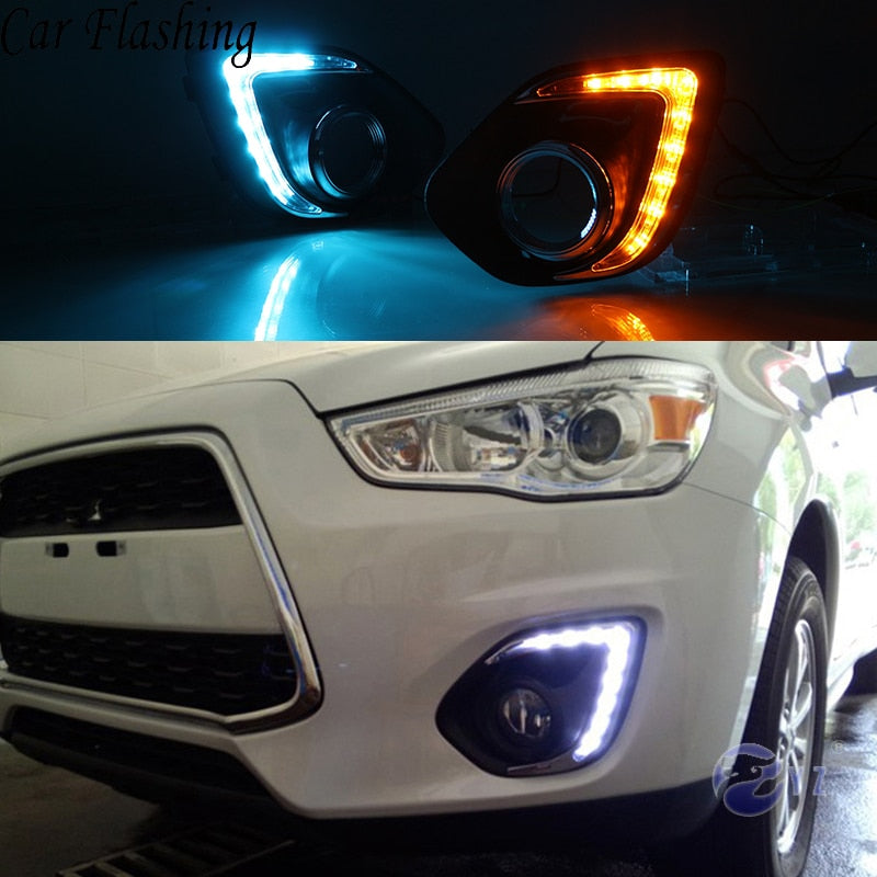 Daytime Running LED Fog Lights For Mitsubishi ASX 2013 2014 - Any Car Accessories