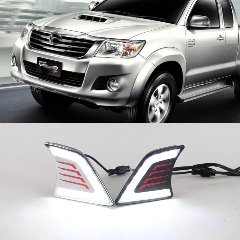 Daytime Running DRL Fog Lights For Toyota Hilux Vigo 2012 2013 2014 - Any Car Accessories