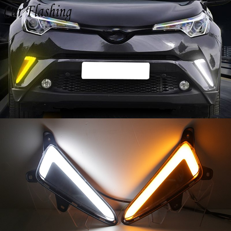 Daytime Running DRL Fog Lights For Toyota CHR C-HR 2017 2018 - Any Car Accessories