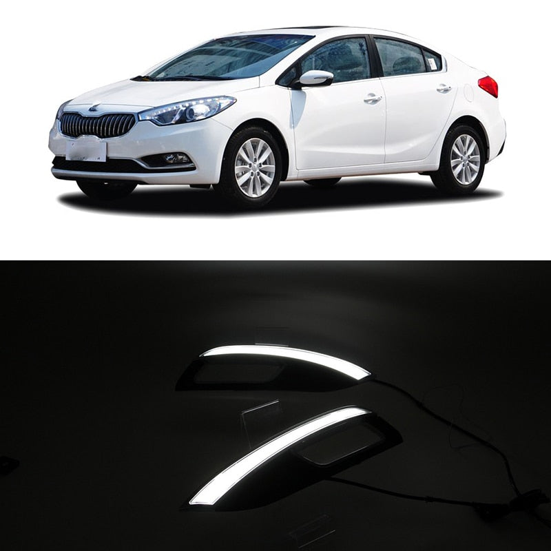 Daytime Running LED Fog Lights For KIA K3 2012 2013 2014 2015