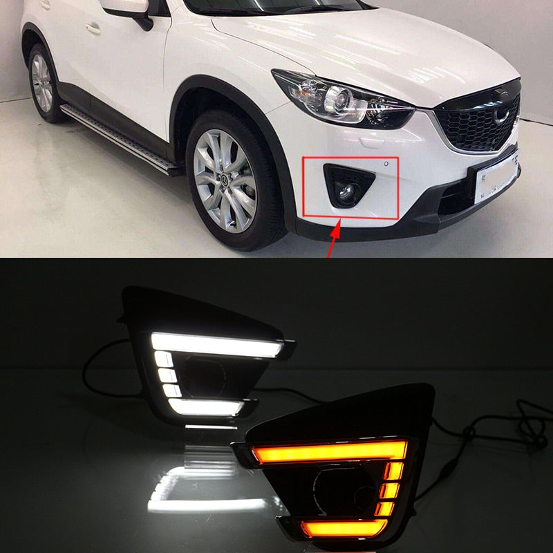 Daytime Running LED Fog Lights For Mazda cx-5 cx5 2012 2013 2014 2015 2016