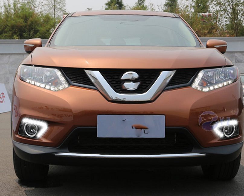 Daytime Running LED Fog Lights For Nissan X-Trail Xtrail X trail 2014 2015 2016 - Any Car Accessories