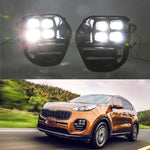 Daytime Running LED Fog Lights For For KIA KX5 2016 2017