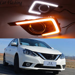 Daytime Running LED Fog Lights For Nissan Sentra 2016 2017 2018 - Any Car Accessories