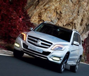 Daytime Running LED Fog Lights For Mercedes Benz W204 GLK300 GLK350 GLK500 2013 2014 2015 2016 - Any Car Accessories