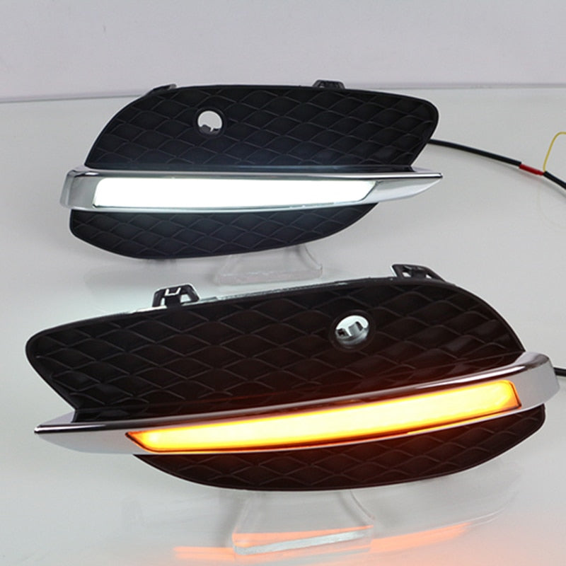 Daytime Running LED Fog Lights For Mercedes Benz GLC X205 2015 2016 - Any Car Accessories