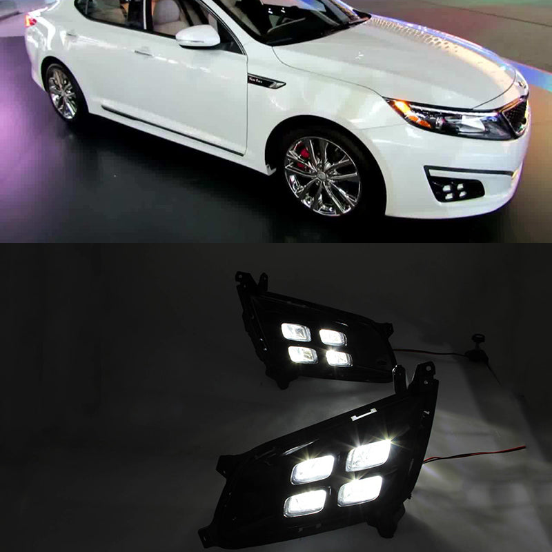 Daytime Running LED With Turn Signal Fog Lights For KIA Optima K5 2013 2014 2015