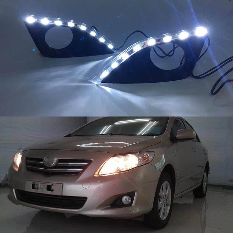 Daytime Running DRL Fog Lights For Toyota Corolla 2007 2008 2009 2010 - Any Car Accessories