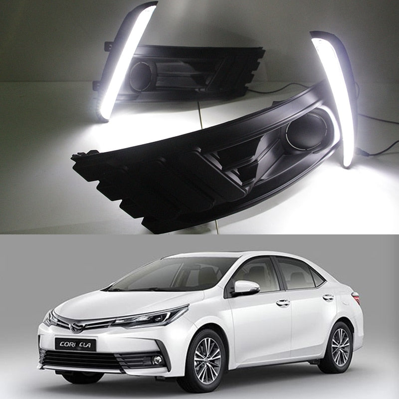 Daytime Running DRL Fog Lights For  Toyota Corolla 2017 - Any Car Accessories