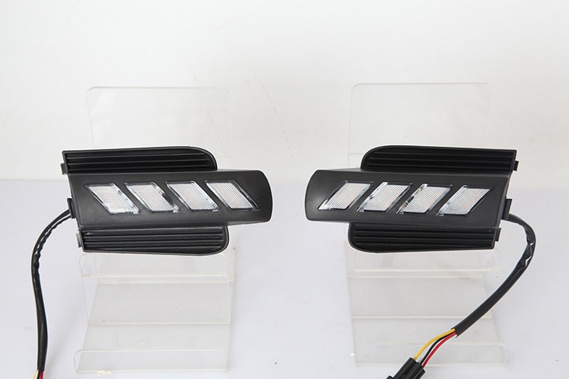 Daytime Running DRL Fog Lights For  Toyota Prado 120 Land cruiser LC120 FJ120 2003 2004 2005 2006 2007 2008 2009 - Any Car Accessories