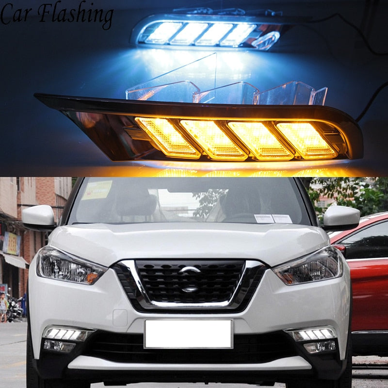 Daytime Running LED Fog Lights ForNissan Kicks 2017 2018 - Any Car Accessories