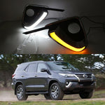 Daytime Running DRL Fog Lights For Toyota Fortuner 2015 2016 2017 - Any Car Accessories