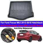Trunk Mat Carpet Cover For Ford Focus Mk3 2012 - 2017 2018 Hatchback,  - Any Car Accessories