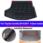 Trunk Mat Carpet Cover For Toyota Corolla Altis 4dr Sedan 2014 2015 2016 2017