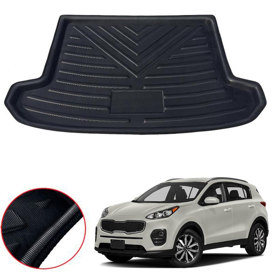 Trunk Mat Carpet Cover For Kia Sportage QL 2016 2017 2018