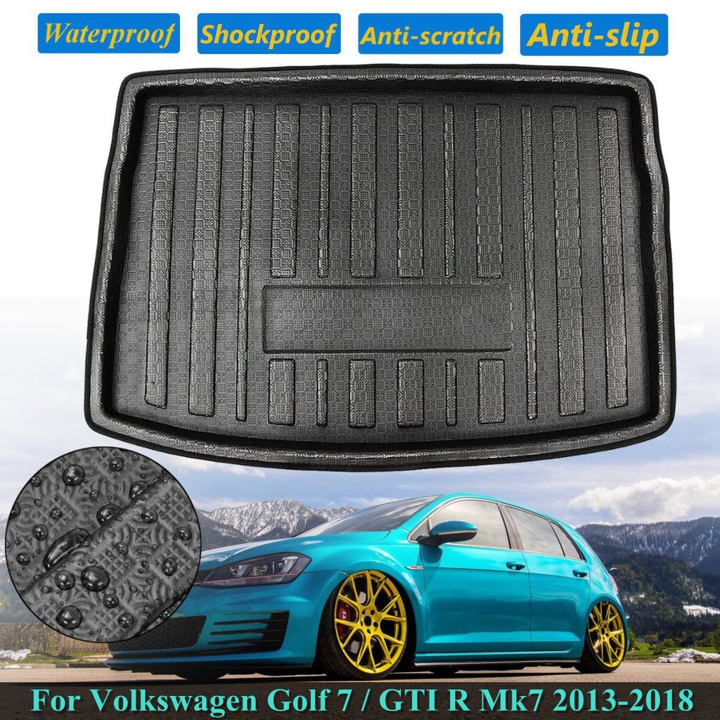 Trunk Mat Carpet Cover For Volkswagen for VW Golf 7 GTI R Mk7 2013-2018 Hatchback