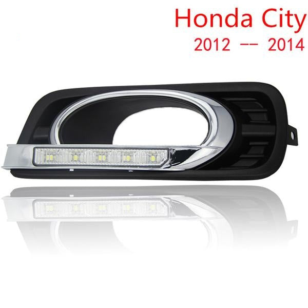 Car LED DRL Daytime Running Lights for Honda City 2012 2013 2014  with fog lamp,  - Any Car Accessories