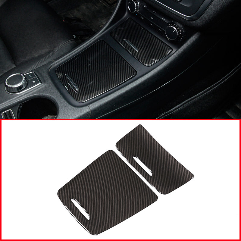Carbon Center Storage Box Cover For Mercedes Benz CLA GLA A Class W117 W176 A180 2014-2017,  - Any Car Accessories