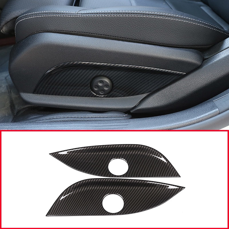 Carbon Fiber Seat Adjust Panel Trim For Mercedes Benz GLC/CLS/E/C Class W205 W212 W213,  - Any Car Accessories