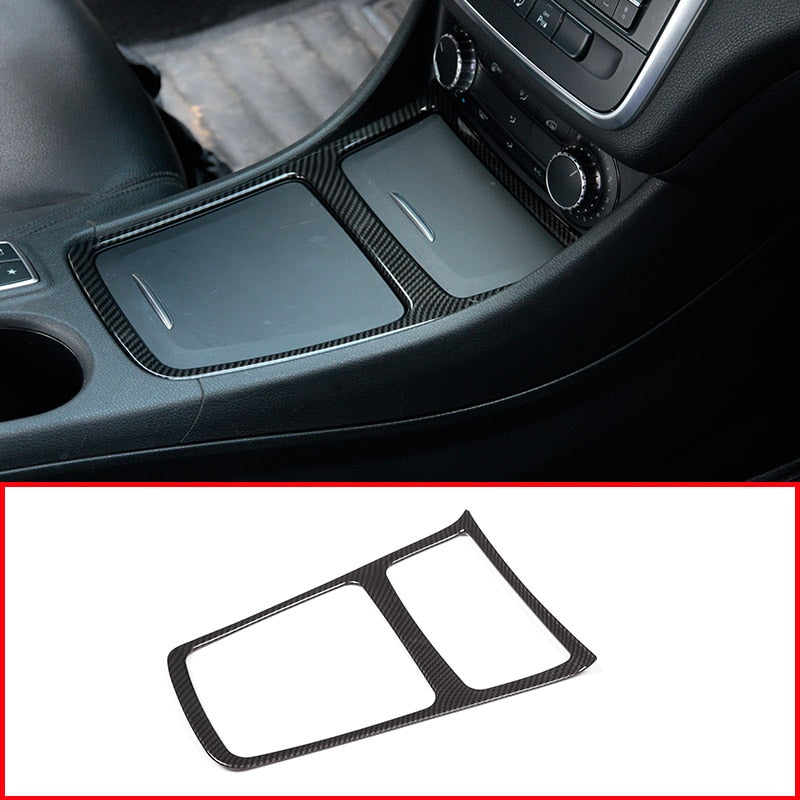 Carbon Fiber Center Storage Box Frame For Mercedes Benz CLA GLA A Class W117 C117 W176 2013-2018,  - Any Car Accessories