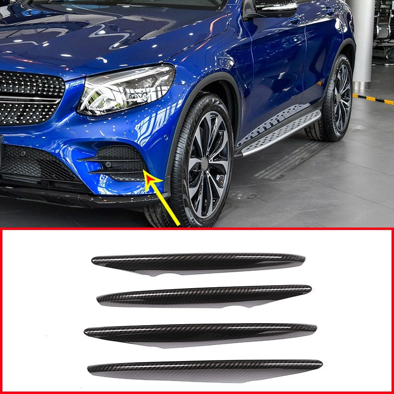 Carbon Fiber Chrome Air Intake Strips For Mercedes Benz GLC Class X253 2017 2018,  - Any Car Accessories