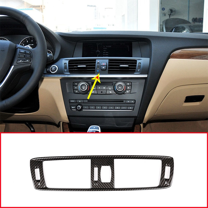 Carbon Fiber Air Conditioning Vent Frame Dash Kit Styling For BMW X3 F25 2011-2017,  - Any Car Accessories