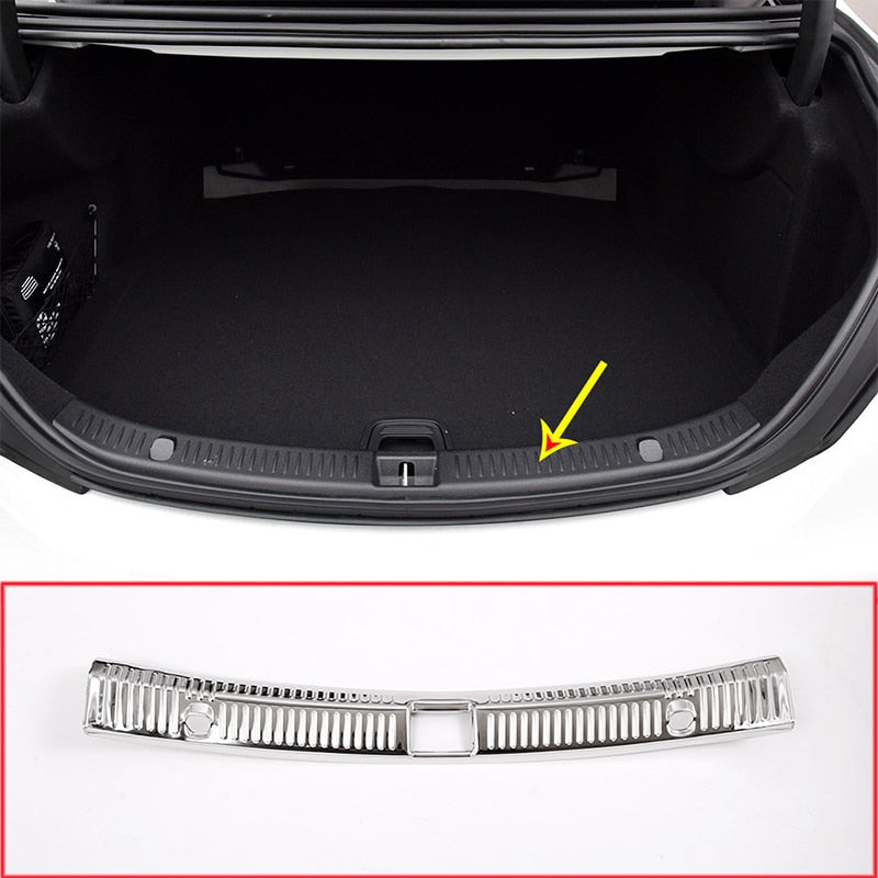 Chrome Stainless Steel Rear Bumper Protector For Mercedes Benz E Class W213 C200 C180 C260 2016-2019,  - Any Car Accessories