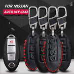 Leather Key Remote Cover For Nissan Qashgaq / Teana / Tiida / Infiniti,  - Any Car Accessories