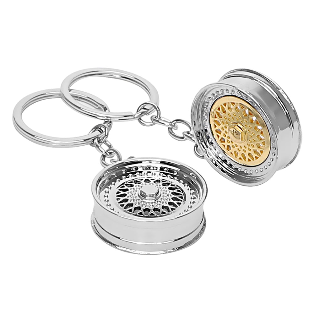 Metal Keychain Car Wheel Rim,  - Any Car Accessories