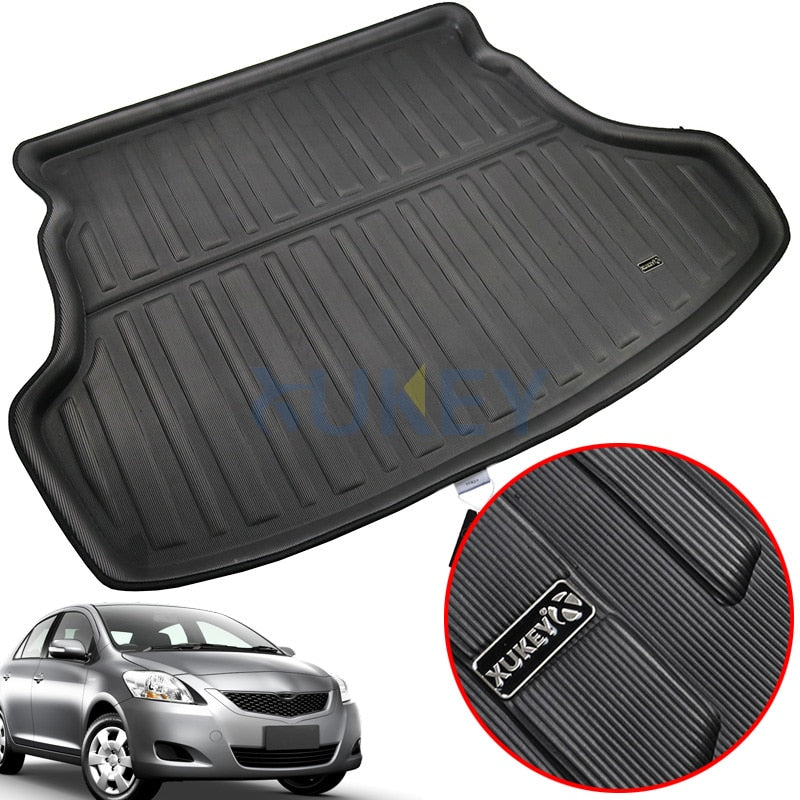 Trunk Carpet Mat For Toyota Yaris Vios Belta 2007-2013