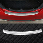 Stainless Steel Rear Bumper Inner/Outside Sill Protector For Mercedes Benz C-Class W205 C200 C180 C260 C63 2015 2016